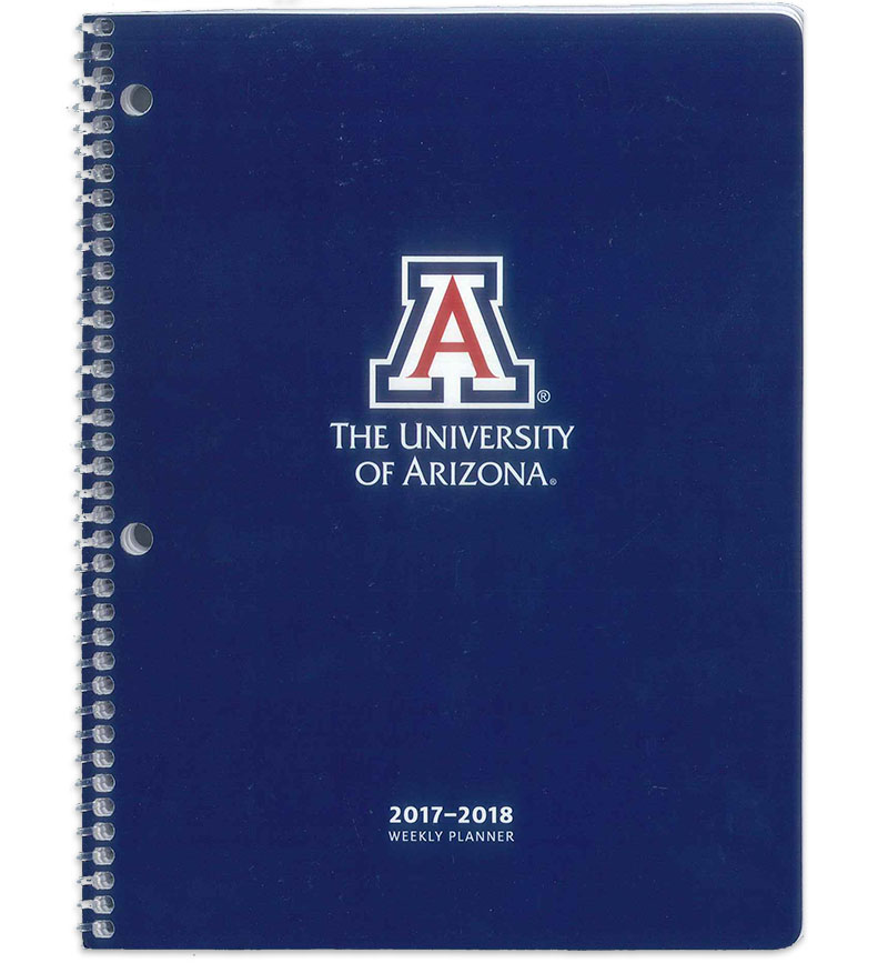 2017-2018 Arizona Wildcats Weekly Student Academic Planner