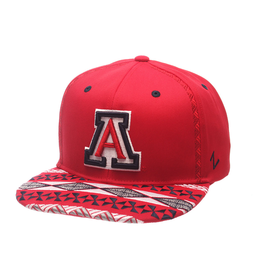 Zephyr: Arizona Wildcats Makai Snapback Hat-Red