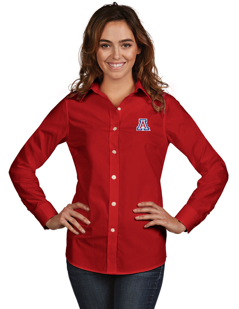 Antigua: Arizona Wildcats Womens Dynasty Long Sleeve-Red