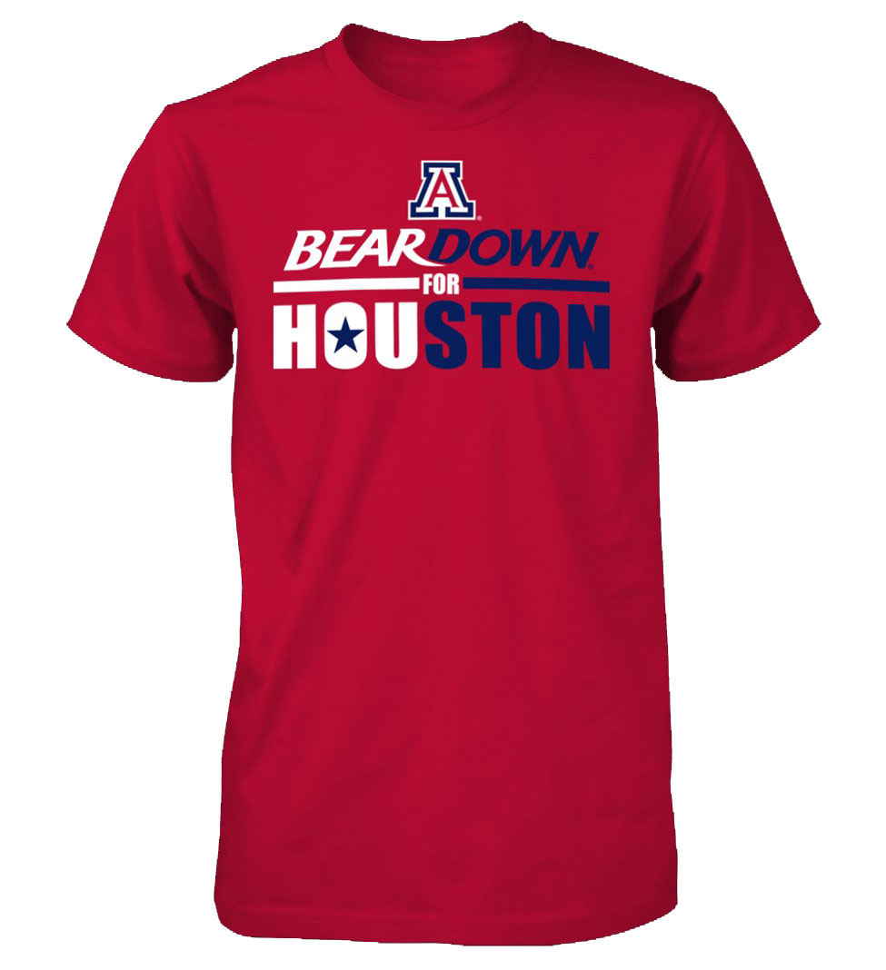 Arizona Wildcats BearDown for Houston Tee-Red