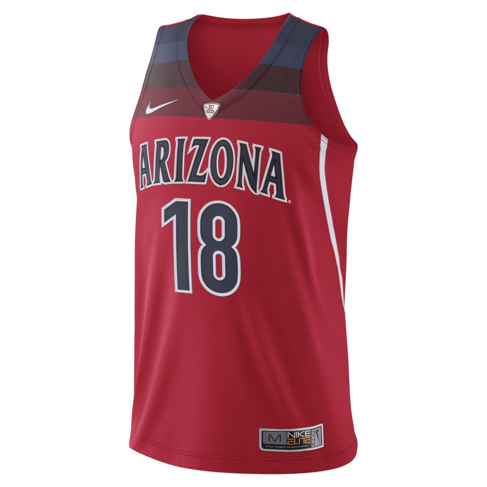 Nike: Arizona Wildcats Basketball 2018 Authentic Jersey-Red