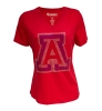 Image for Campus Couture: Arizona Rhinestone Women's V-Neck Red Tee