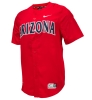 Image for Nike: Arizona Baseball Full Button Vapor Jersey-Red