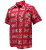 Image for Retro Brand: Arizona Wildcats Aloha Hawaiian Button Down Red