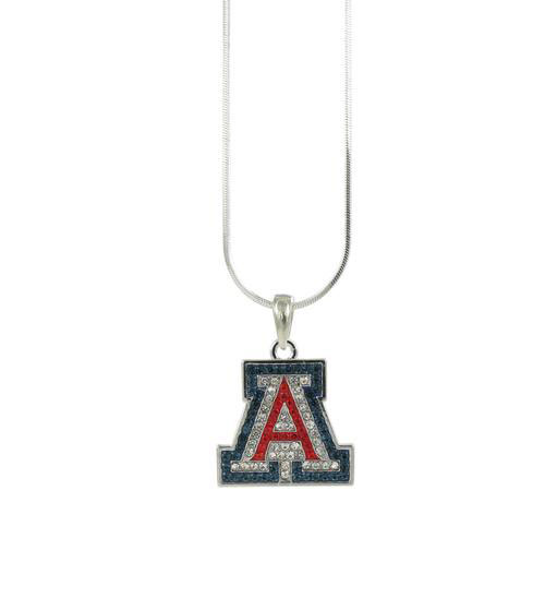 "Image for RhinestoneU: Crystal Arizona ""A"" Pendant Necklace"