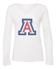 Image for Campus Couture: Arizona Rhinestone V-Neck Long Sleeve-White