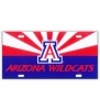 Image for License Plate Frame: Arizona Wildcats Red & Navy Sunrise