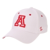 Image for Zephyr: Arizona BearDown Authentic Stretch Cap-White/Red