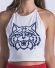 Image for Hype & Vice: Arizona Wildcats Halter Top - White