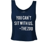 Image for Retro Brand: Arizona You Can't Sit With Us-Zoo Crop Top Navy