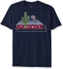 Image for Blue 84: Arizona Vintage Cacuts Logo Dyed Tee - Navy