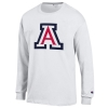 Image for Champion: Arizona Youth Logo Long Sleeve Jersey Tee - White