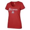 Image for '47 Brand: Arizona Womens Club Scoop Sparkle Dip Tee - Red
