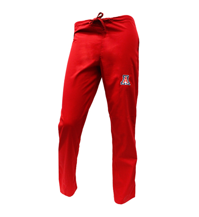 Red 'A' Scrub Pants