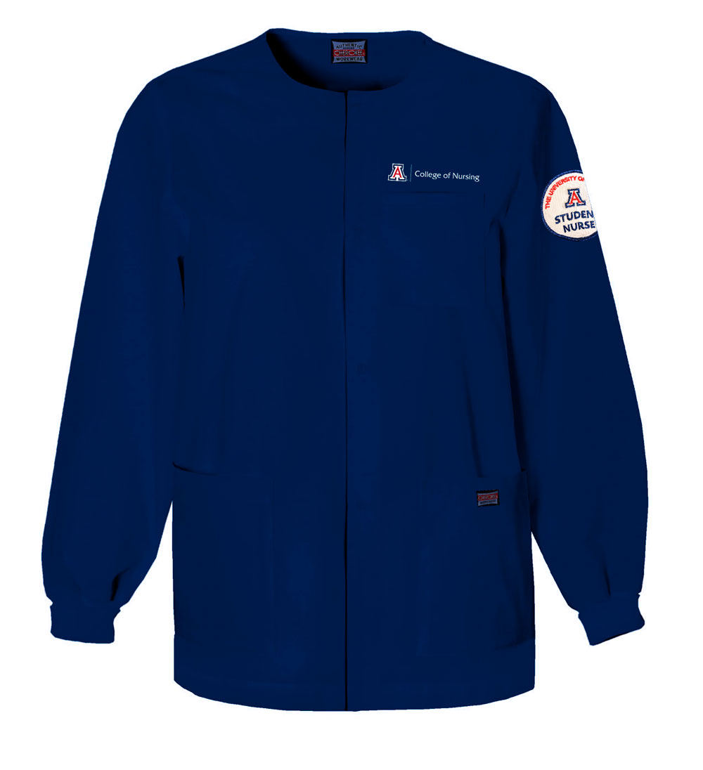 Cherokee: College Of Nursing Snap Front Warm-Up Jacket Navy