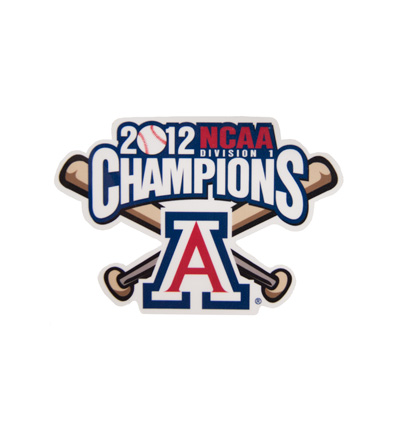 Image For Decal: 'A' Logo Bat<BR>2012 NCAA Champions