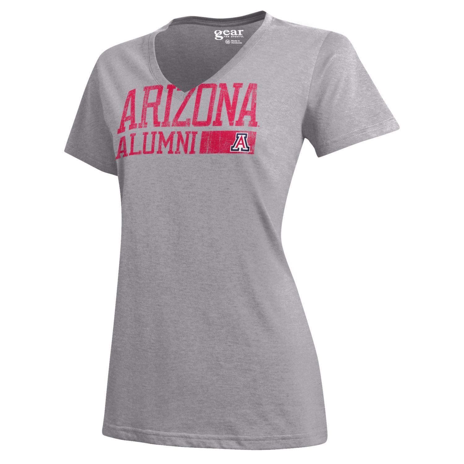 Image For Gear: Arizona Alumni Mia V-Neck Tee-Oxford Heather