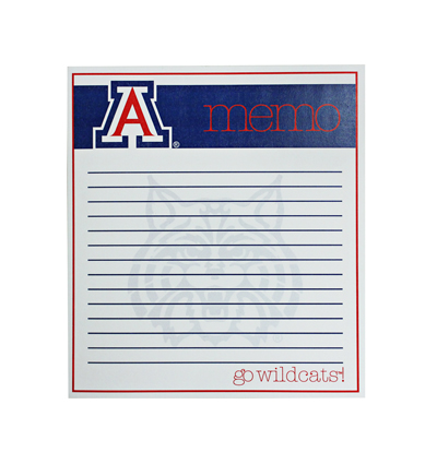 Image For Paper Pad: 'A' memo go wildcats!