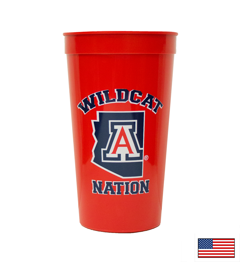 Image For Plastic Cup: Wildcat Nation Arizona Red