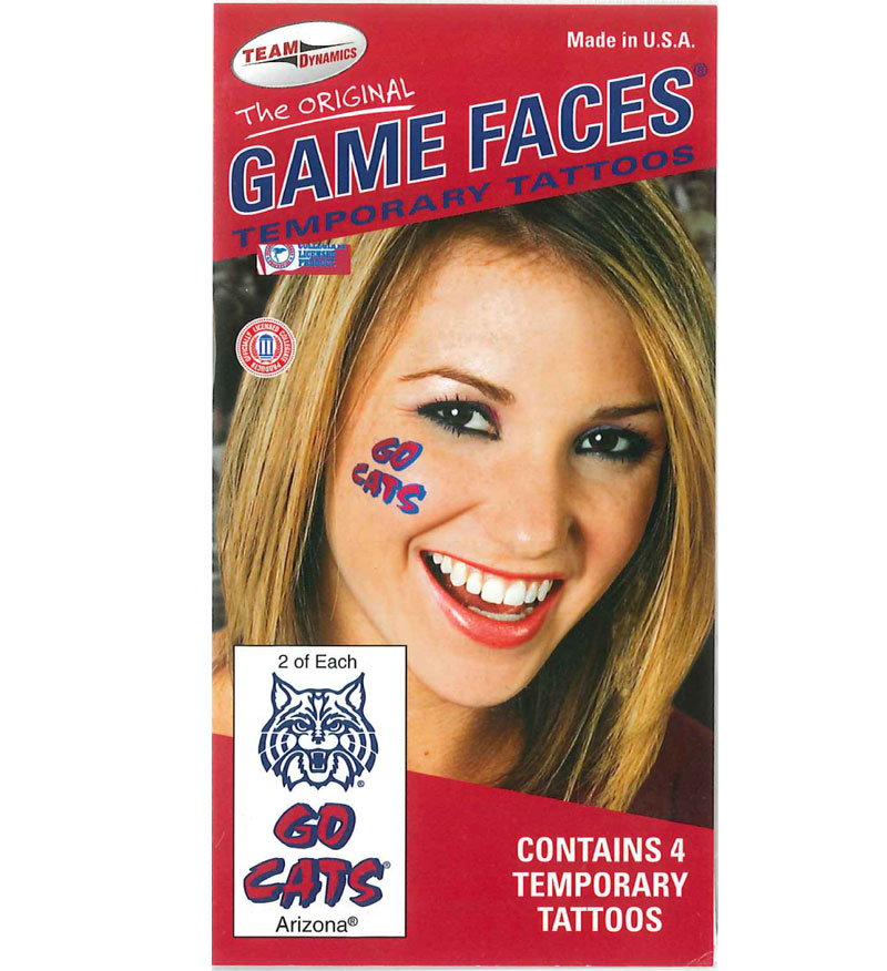 Image For Temporary Tattoos: Wildcats/Go Cats!