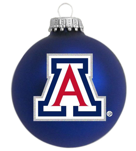 Image For The University of Arizona Seasonal Ornament BLUE VELVET