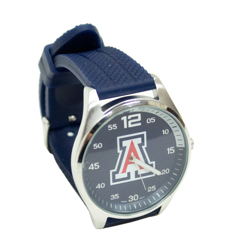 Image For Watch: 'A' Navy Silicone Watch