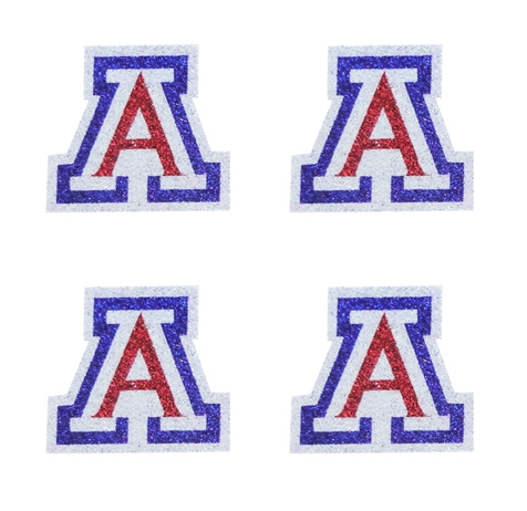 Image For Temporary Tattoos: 'A' White Glitter