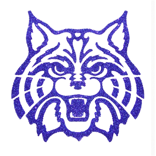 Image For Temporary Tattoo: Arizona Wildcats - Glitter Navy