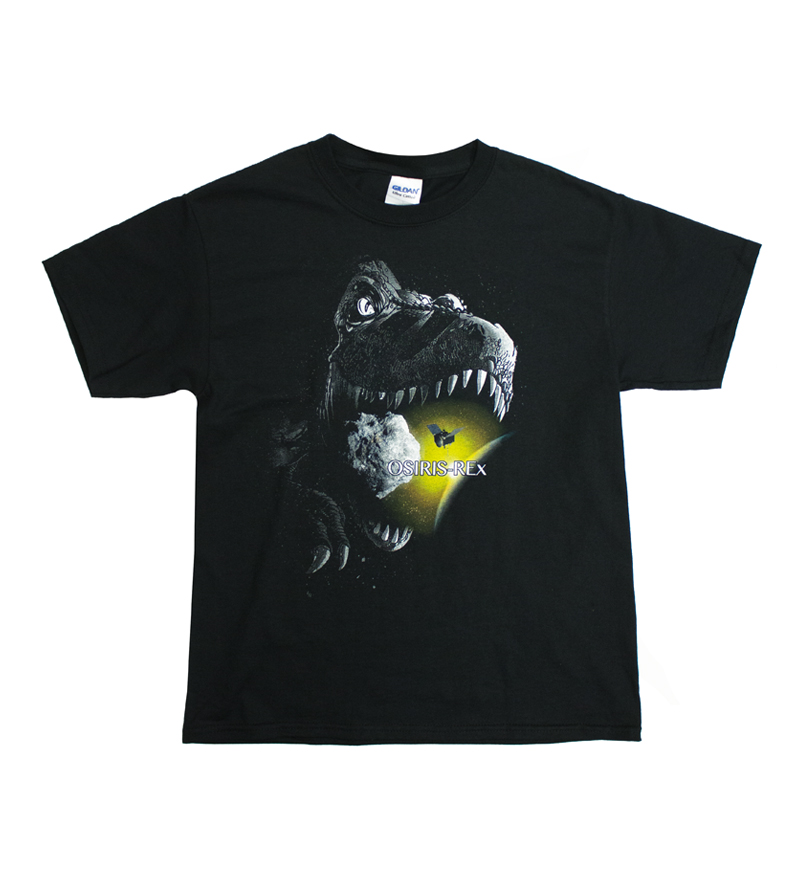 Cover Image For Youth OSIRIS-REX Dinosaur Black T-Shirt