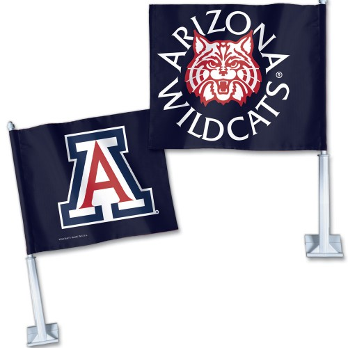 Image For Flag: Arizona Wildcats Navy Car Flag
