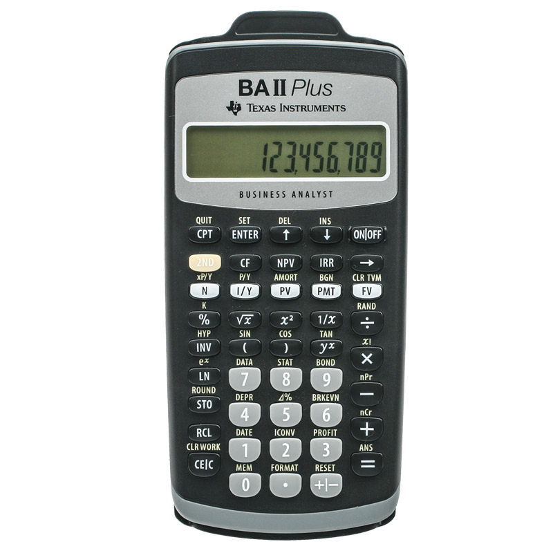Image For Texas Instruments: BA II Plus Calculator