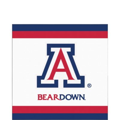 Image For Party Supplies: Arizona Bear Down Luncheon Napkins 20ct