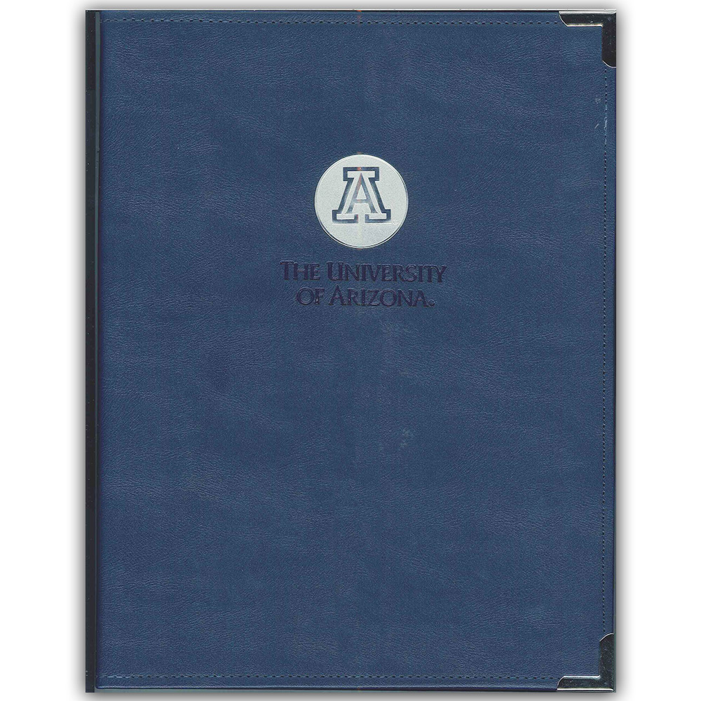 Image For Padfolio: Navy Blue Centered 'A' Medallion Logo