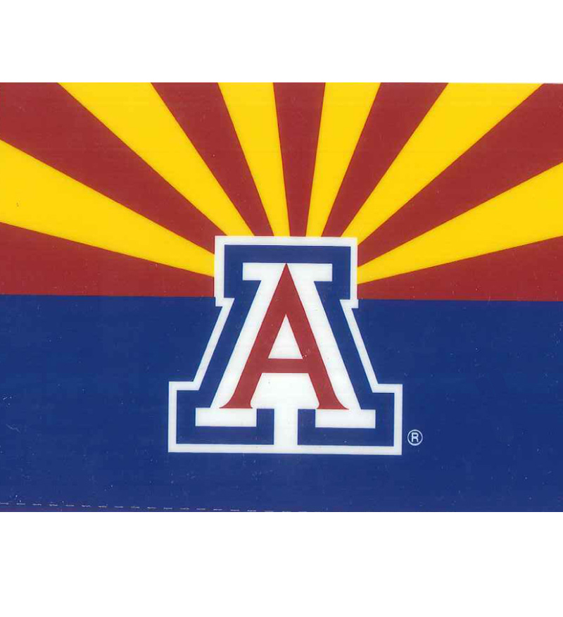 Image For Magnet: AZ State Flag with Block A