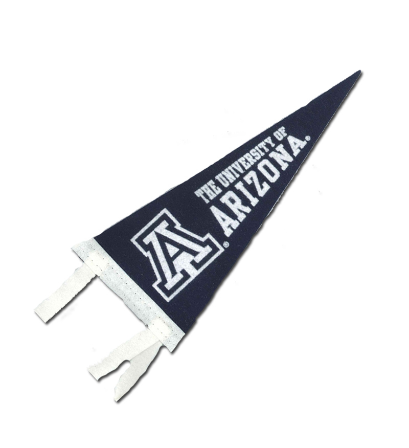 "Image For Pennant: Blue University of Arizona 4""x9"""