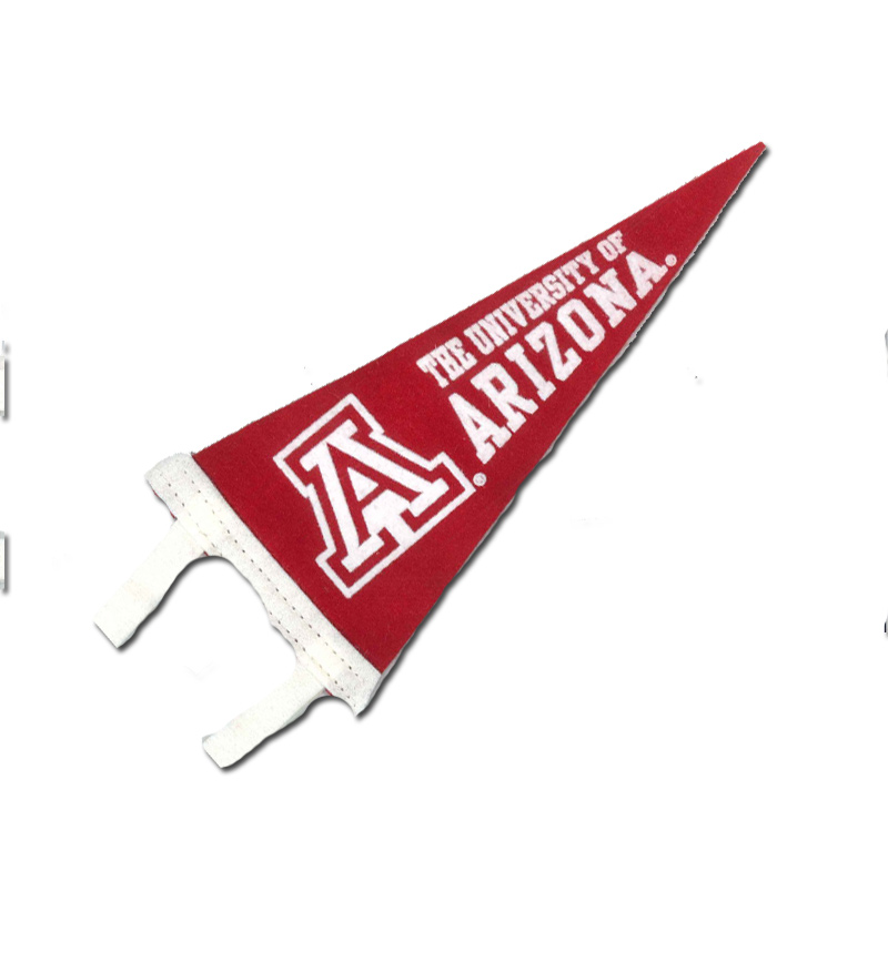 "Image For Pennant: Red University of Arizona  4""x9"""