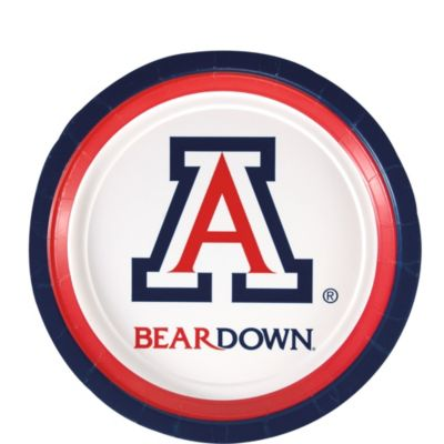 "Image For Party Supplies: Arizona Bear Down 7"" Paper Plate 12ct."
