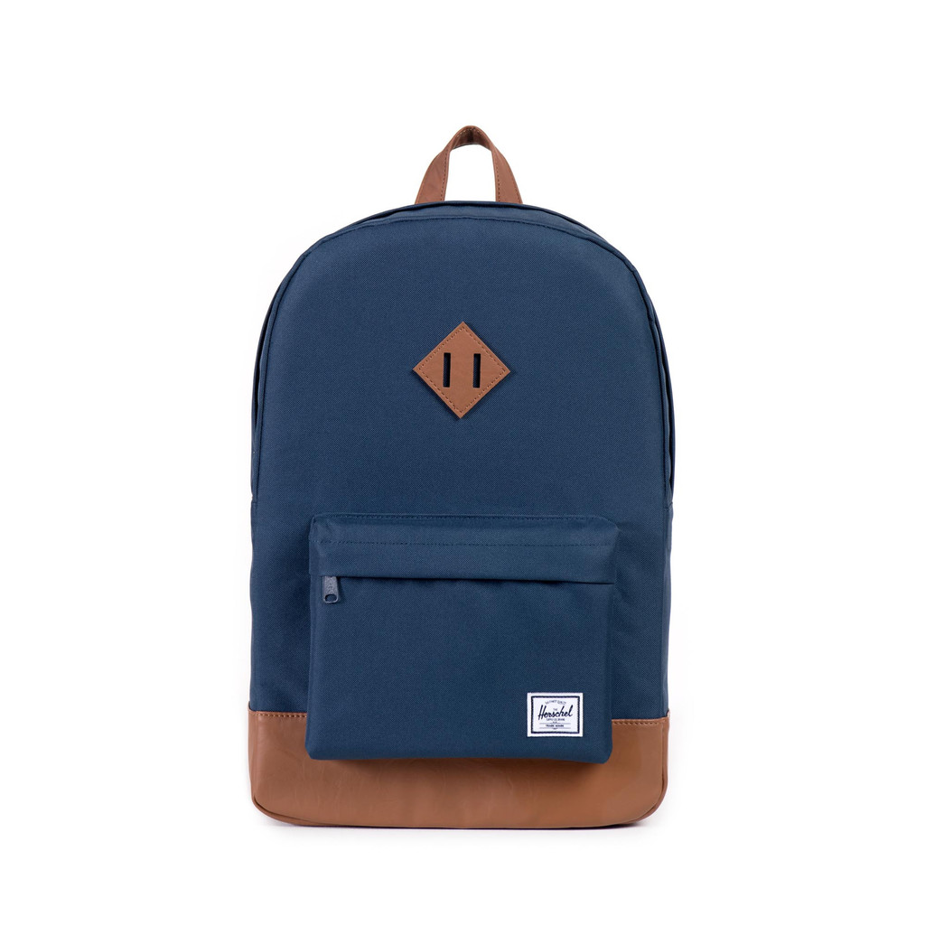 Image For Herschel Heritage Navy/Tan Synthetic Leather