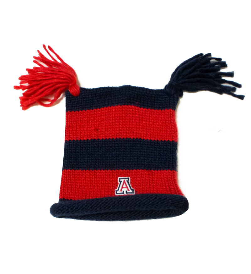 Image For Blue and Red Square Beanie 'A'