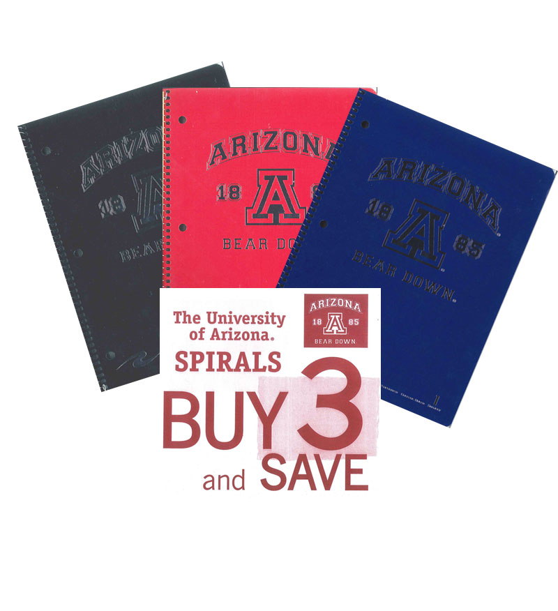 Image For Arizona Spiral 1 Subject Notebooks 3-Pack