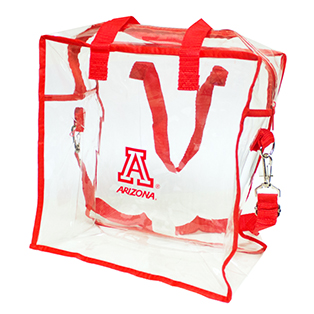 Image For Arizona Clear Red Square Stadium Tote Bag