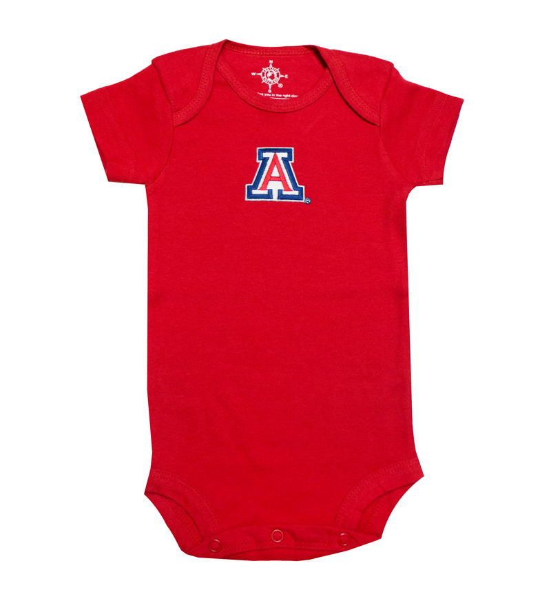 Image For Creative Knitwear: Infant Red Arizona Onesie