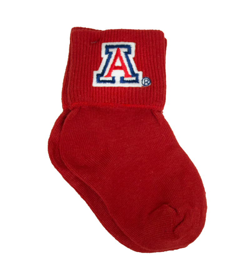 Image For Creative Knitwear: Arizona Infant Anklet Red Socks