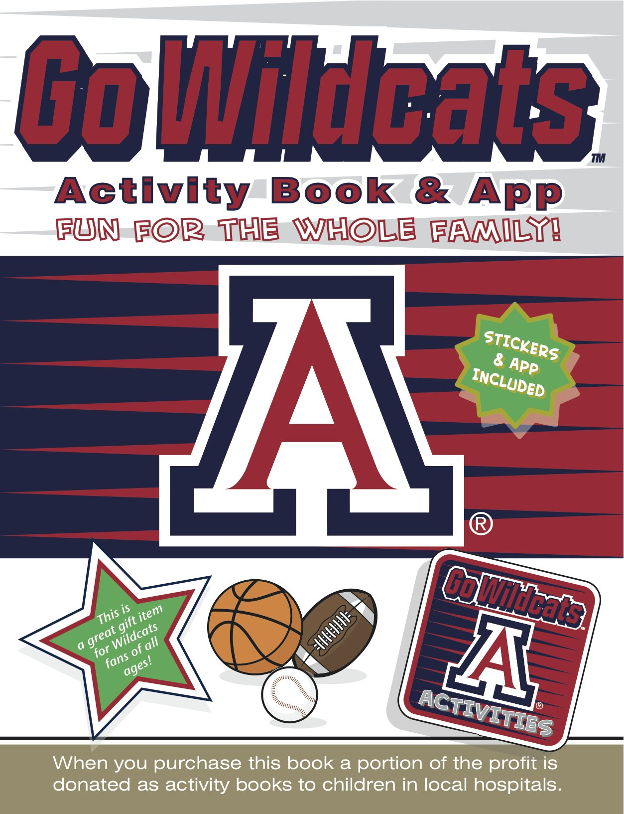 Cover image of Go Wildcats Activity Book & App