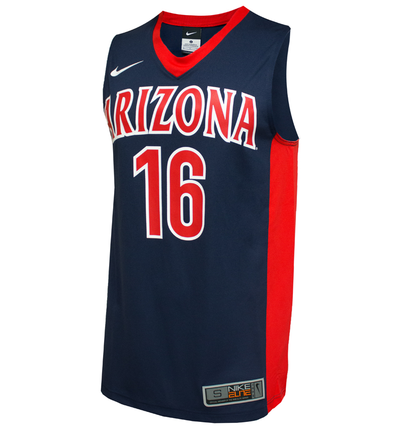 Image For Arizona No. 16 Navy Replica Basketball Jersey by Nike
