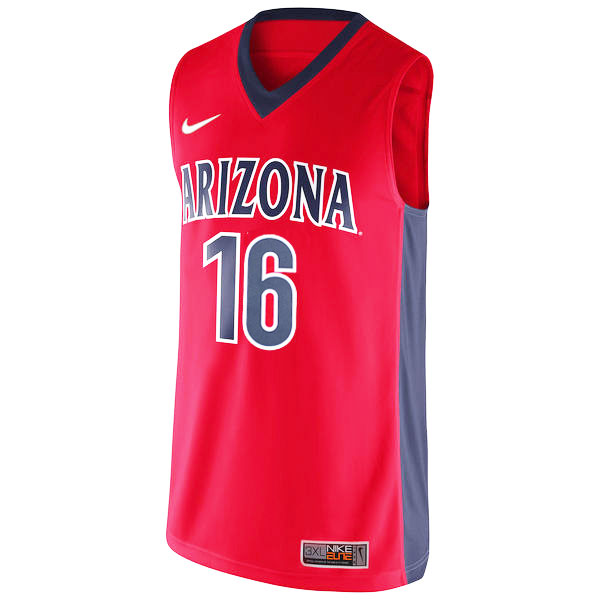 Image For Arizona No. 16 Red Replica Basketball Jersey by Nike
