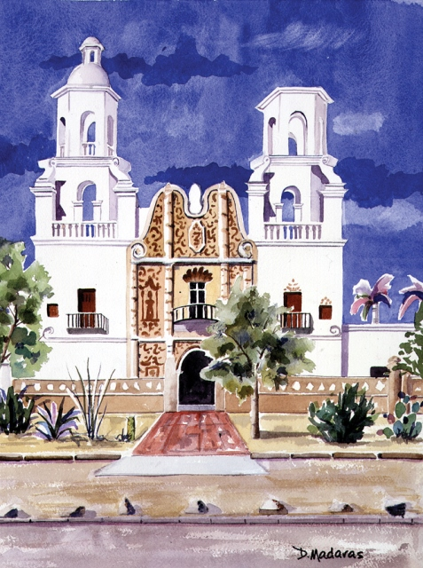Image For Holiday Cards – San Xavier Mission
