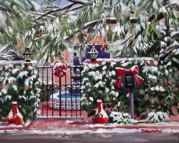 Image For Holiday Cards – Mexican Courtyard in Snow