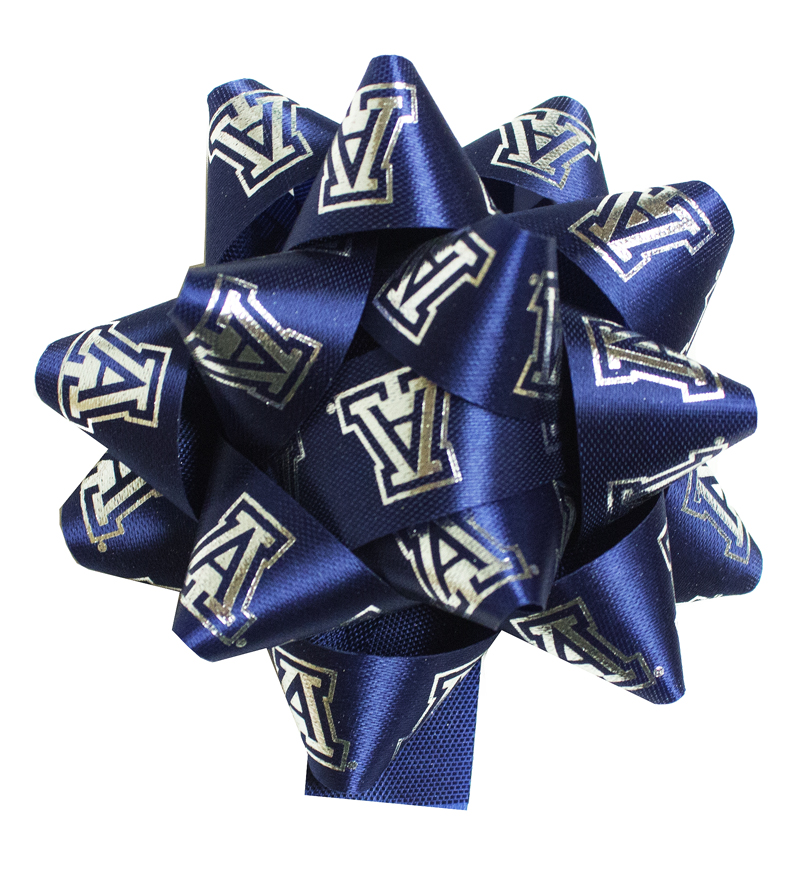 Image For Block 'A' Navy Satin Star Bow