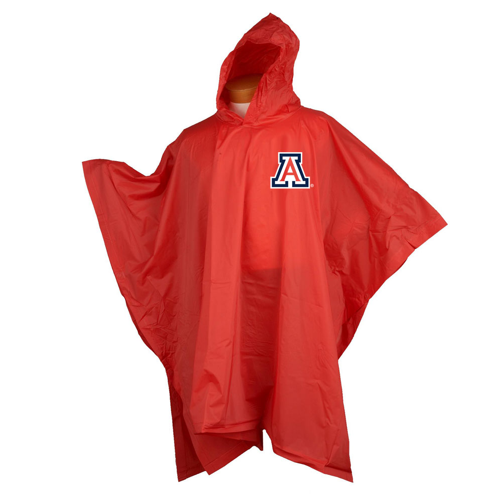 Image For Arizona Game Day Raingear Red Poncho